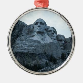 El monte Rushmore Adorno Navideño Redondo De Metal