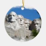 El monte Rushmore Adorno Redondo De Cerámica