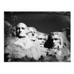 El monte Rushmore B&W Tarjeta Postal