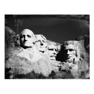 El monte Rushmore B&W Postal