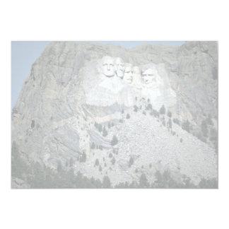 """El monte Rushmore, Black Hills, Dakota del Sur, Invitación 5"""" X 7"""""""