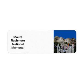 El monte Rushmore Dakota del Sur conmemorativo Etiqueta De Remite