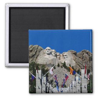 El monte Rushmore Dakota del Sur conmemorativo Imán Cuadrado