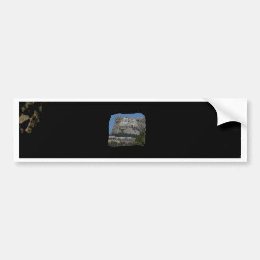 El monte Rushmore Etiqueta De Parachoque