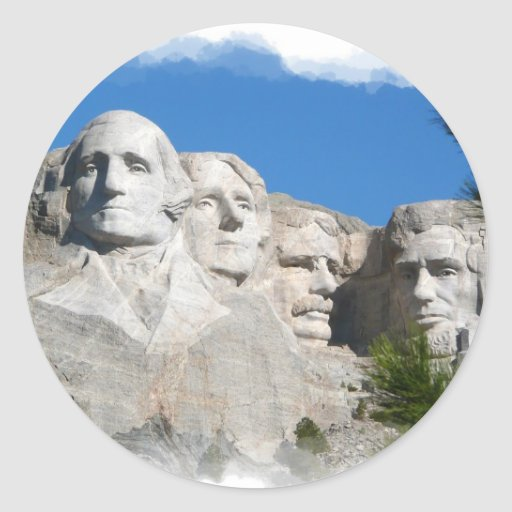 El monte Rushmore Pegatinas Redondas