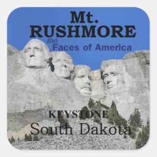 El monte Rushmore Pegatina Cuadrada