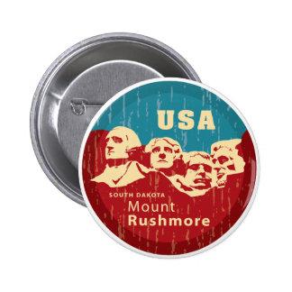 El monte Rushmore Pin Redondo 5 Cm