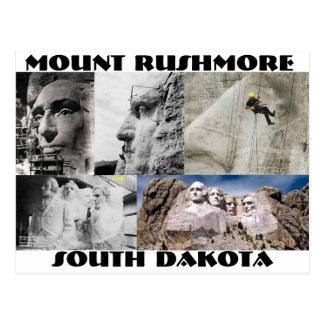 El monte Rushmore, postal de Dakota del Sur