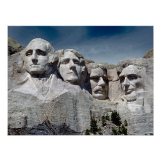 El monte Rushmore Póster