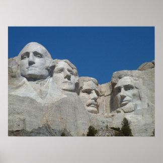 El monte Rushmore, presidentes de Dakota del Sur,  Póster