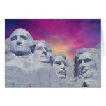 El monte Rushmore, presidentes de Dakota del Sur, Tarjeta De Felicitación