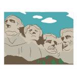 El monte Rushmore Tarjeta Postal