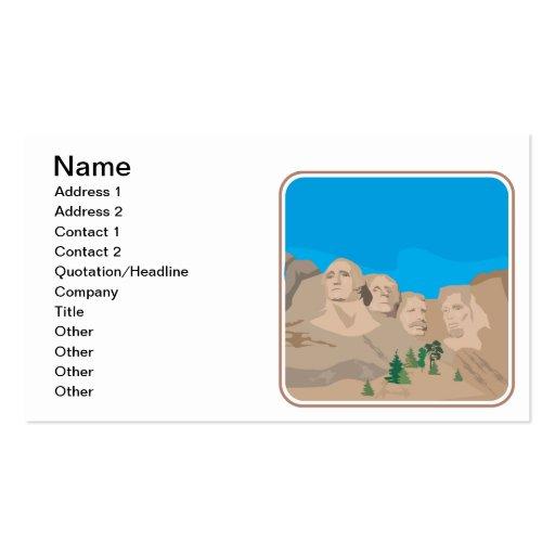 El monte Rushmore Tarjetas De Visita