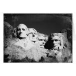 El monte Rushmore Tarjetón