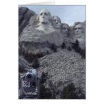 El monte Rushmore Tarjeton