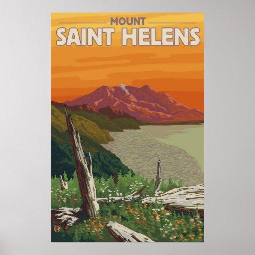 El Monte Saint Helens - lago spirit - poster del v