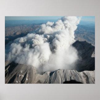 El Monte Saint Helens - octubre de 2004 Póster