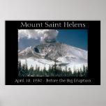 El Monte Saint Helens - Pre-Erupción Posters