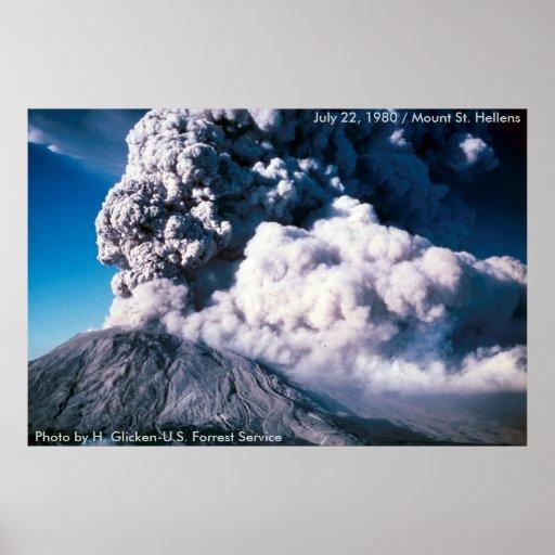 El Monte Saint Helens sopla su top Poster