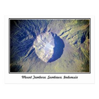 El monte Tambora Sumbawa Indonesia Tarjeta Postal
