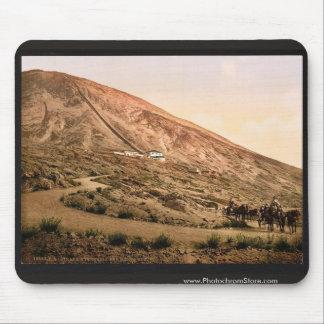 El monte Vesubio, camino y ferrocarril, Nápoles, I Alfombrillas De Ratón