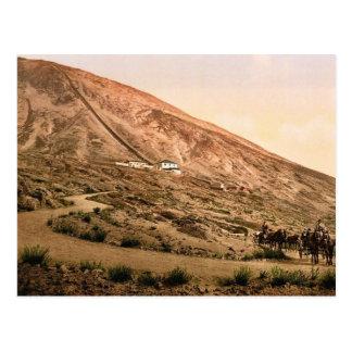 El monte Vesubio, camino y ferrocarril, Nápoles, I Tarjetas Postales