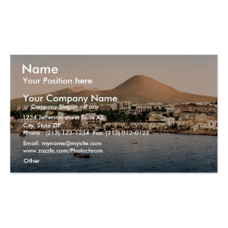 El monte Vesubio, con Torre de Creco, Nápoles, Ita Tarjetas De Visita
