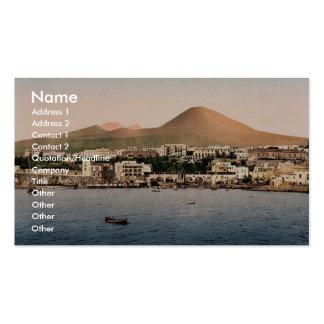 El monte Vesubio, con Torre de Creco, Nápoles, Ita Tarjeta De Visita