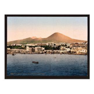 El monte Vesubio, con Torre de Creco, Nápoles, Ita Postal