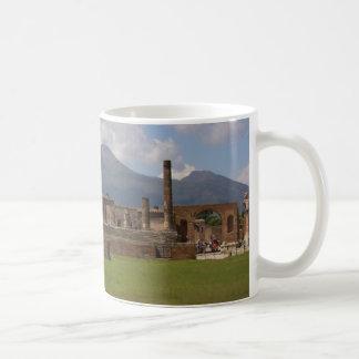 El monte Vesubio, Pompeya Taza De Café