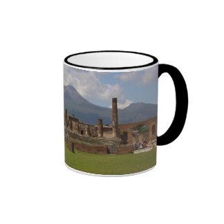 El monte Vesubio, Pompeya Taza De Dos Colores