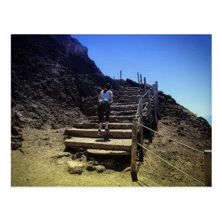 El monte Vesubio Tarjeta Postal