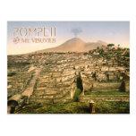El monte Vesubio y las ruinas de Pompeya en Italia Postales