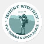 El Monte Whitney Pegatina Redonda