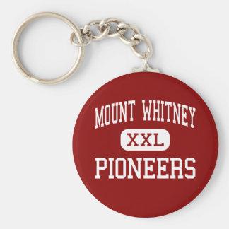 El Monte Whitney - pioneros - alto - Visalia Llavero Redondo Tipo Pin