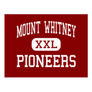 El Monte Whitney - pioneros - alto - Visalia Postales
