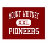 El Monte Whitney - pioneros - alto - Visalia Postal