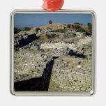 El montón de Hissarlik, el sitio de Ornamento Para Reyes Magos