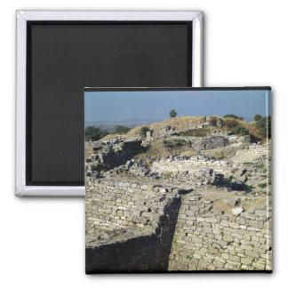 El montón de Hissarlik, el sitio de Imán Cuadrado