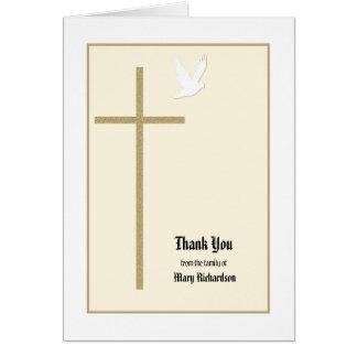 El monumento cristiano le agradece tarjeta de nota