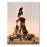 El monumento de Garibaldi, vintage Photochr de Rom Postales