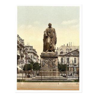 El monumento de Goethe, Frankfort en la tubería (e Tarjeta Postal