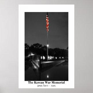 El monumento de Guerra de Corea de Janet Davis Poster