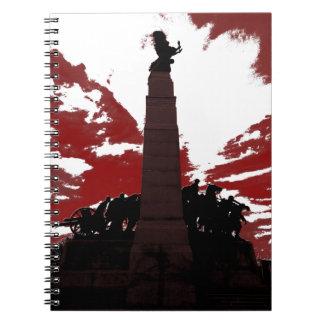 El monumento de guerra nacional libretas