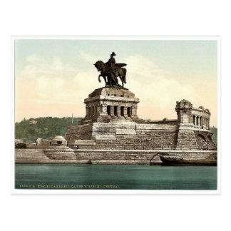 El monumento de Guillermo del emperador, Coblenza, Postal