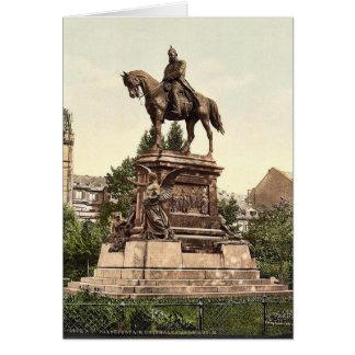 El monumento de Guillermo del emperador, Frankfort Tarjeton