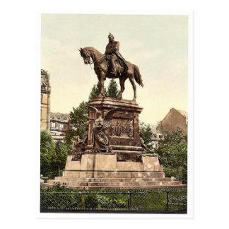 El monumento de Guillermo del emperador, Frankfort Tarjeta Postal