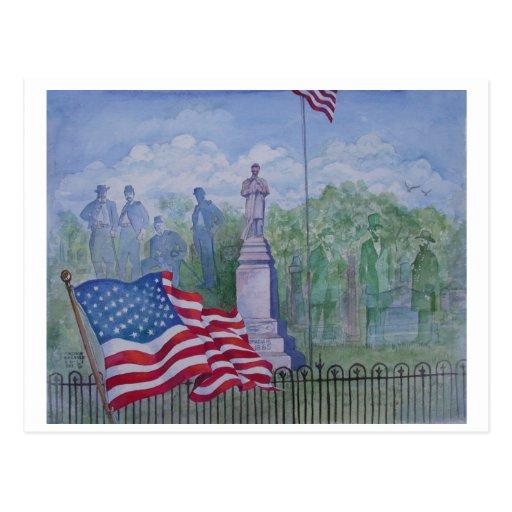 El monumento de la guerra civil en Wilton, Iowa Tarjeta Postal