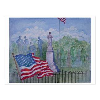 El monumento de la guerra civil en Wilton, Iowa Tarjetas Postales