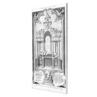 El monumento de la reina Elizabeth Lona Envuelta Para Galerias